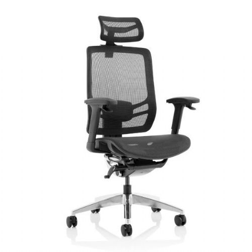 Ergo Click Black Mesh Office Chair With Headrest